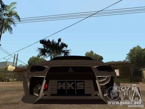 Mitsubishi Lancer Evolution X Drift Spec para la visión correcta GTA San Andreas