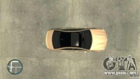 Mercedes-Benz C63 para GTA 4 Vista posterior izquierda