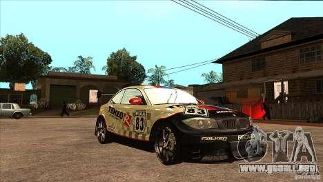 BMW 135i Coupe GP Edition Skin 1 para GTA San Andreas vista hacia atrás