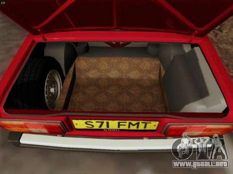 Lada 2105 RIVA (exportación) 2.0 para GTA San Andreas interior