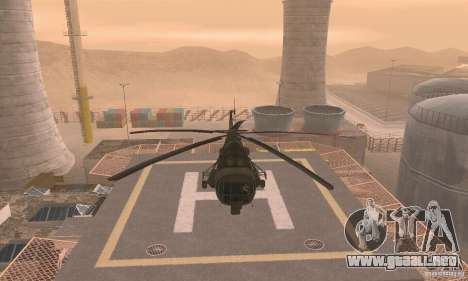 MI-17 para GTA San Andreas vista hacia atrás