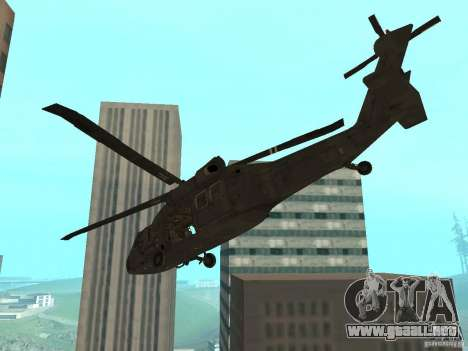 UH-60 Black Hawk para GTA San Andreas left