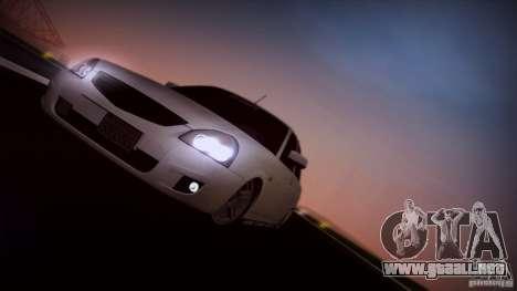 LADA 2170 California para GTA San Andreas vista hacia atrás