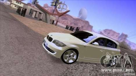 BMW 120i 2009 para visión interna GTA San Andreas