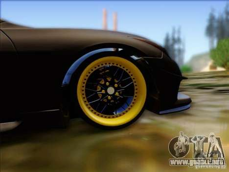 Infiniti G37 HellaFlush para GTA San Andreas vista hacia atrás