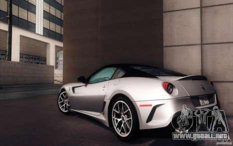 Ferrari 599 GTO 2011 para GTA San Andreas left