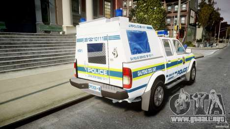 Nissan Frontier Essex Police Unit para GTA 4 vista lateral