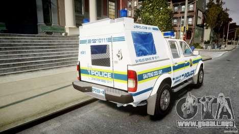 Nissan Frontier Essex Police Unit para GTA 4 vista lateral