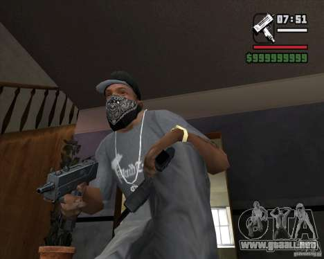 Micro UZI para GTA San Andreas segunda pantalla
