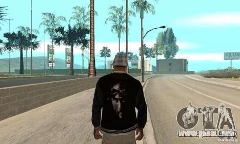 Jacke skin para GTA San Andreas segunda pantalla