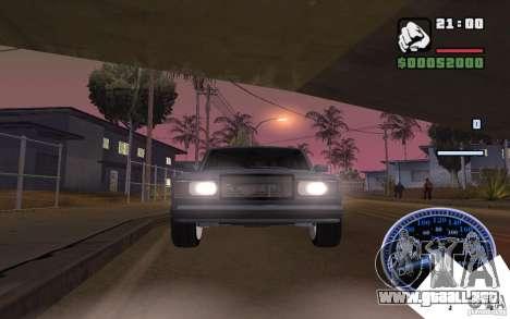 VAZ 2107 luz Tuning para GTA San Andreas vista posterior izquierda