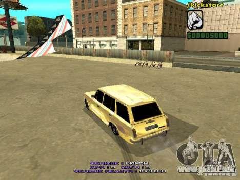 VAZ 2102 oro para la visión correcta GTA San Andreas