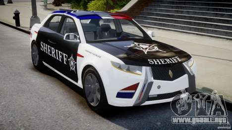 Carbon Motors E7 Concept Interceptor Sherif ELS para GTA 4