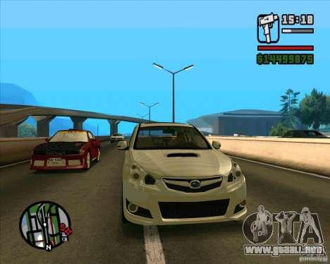 Subaru Legacy 2010 v.2 para GTA San Andreas left