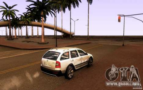 Skoda Octavia Scout para GTA San Andreas left