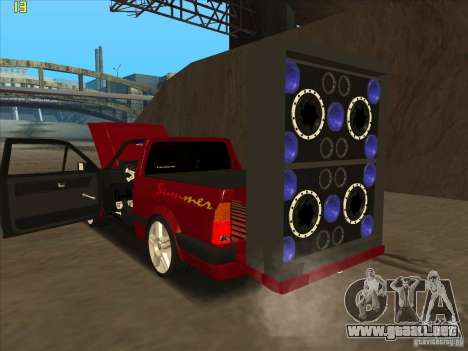 Volkswagen Saveiro Summer para la visión correcta GTA San Andreas
