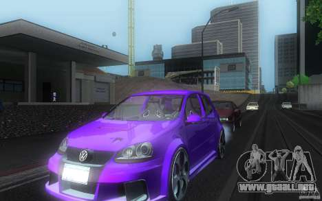 VolksWagen Golf GTI W12 TT Black Revel para visión interna GTA San Andreas