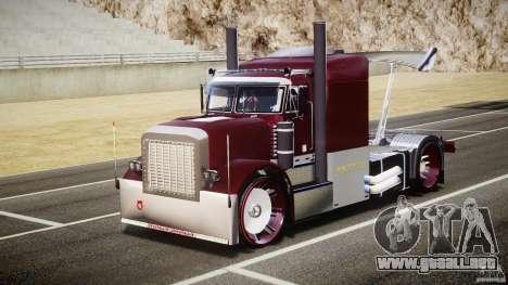 Peterbilt Sport Truck Custom para GTA 4 vista hacia atrás