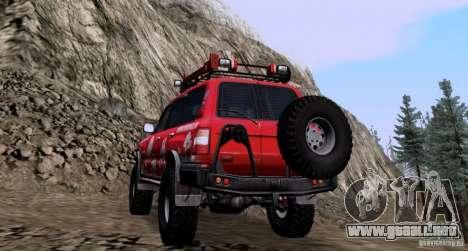 Toyota Land Cruiser 100 Off-Road para GTA San Andreas vista posterior izquierda