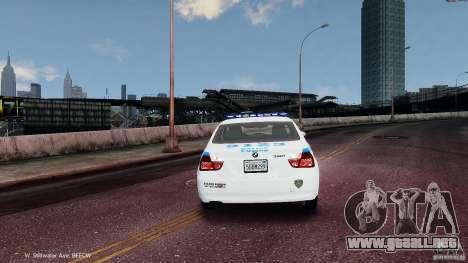 NYPD BMW 350i para GTA 4 visión correcta