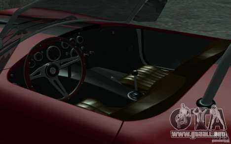 Shelby Cobra 427 para la vista superior GTA San Andreas