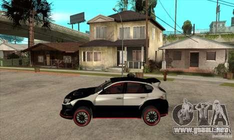 Subaru Impreza WRX STi 2008 para GTA San Andreas left