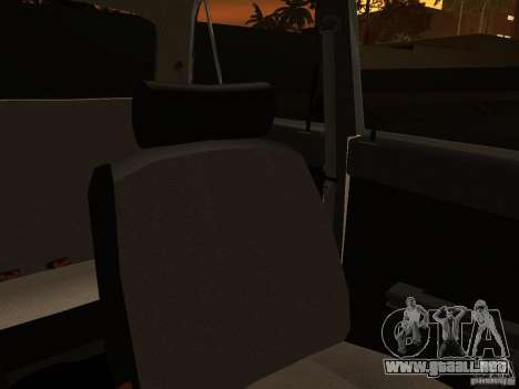 2106 VAZ policía v 2.0 para vista inferior GTA San Andreas