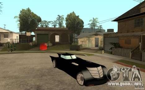 Batmobile Tas v 1.5 para GTA San Andreas vista hacia atrás