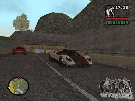 Pagani Zonda Cinque Roadster V2 para la visión correcta GTA San Andreas