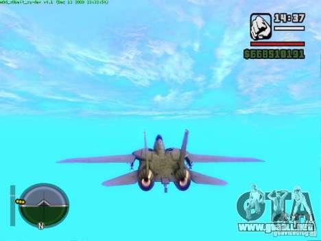 F 14 A TOMCAT para GTA San Andreas vista posterior izquierda