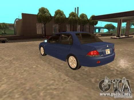 Mitsubishi Lancer 1.6 para GTA San Andreas left