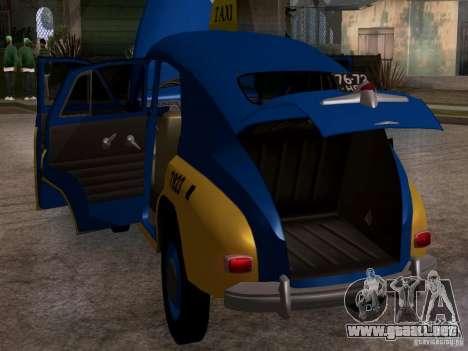 GAZ M20 Pobeda Taxi para visión interna GTA San Andreas