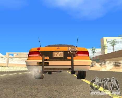 Taxi from GTAIV para la visión correcta GTA San Andreas