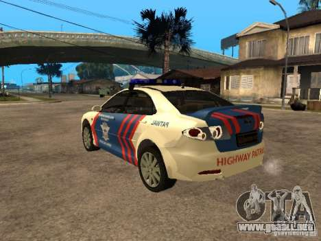 Mazda 6 Police Indonesia para GTA San Andreas left