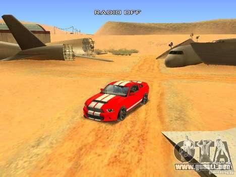 Ford Shelby GT500 para vista inferior GTA San Andreas