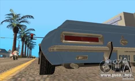 Chevrolet Camaro SS 1967 para vista lateral GTA San Andreas