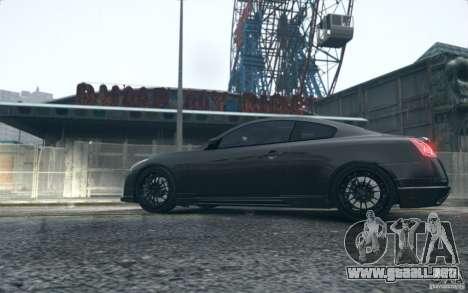 Infiniti G37 Coupe Carbon Edition v1.0 para GTA 4 Vista posterior izquierda