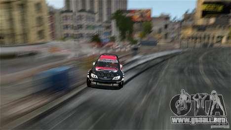 Subaru Impreza WRX STI Rallycross Eibach Springs para GTA 4 vista interior