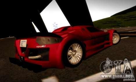 Gumpert Apollo para la visión correcta GTA San Andreas