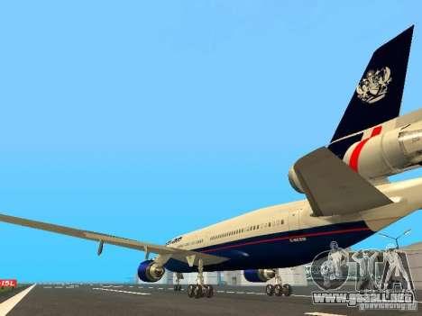 McDonell Douglas DC10 British Airways para GTA San Andreas vista posterior izquierda