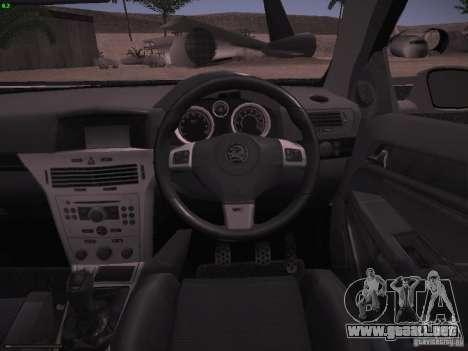 Vauxhall Astra VXR Tuned para vista lateral GTA San Andreas
