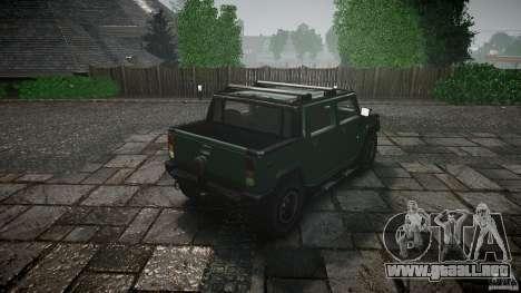 Hummer H2 para GTA 4 vista lateral