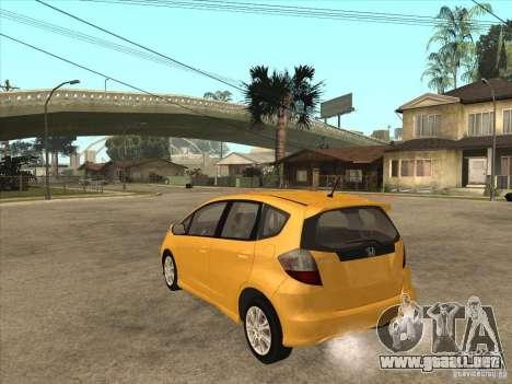 Honda Jazz (Fit) para GTA San Andreas vista posterior izquierda