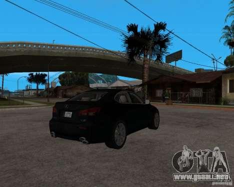 Lexus IS-F v2.0 para la visión correcta GTA San Andreas