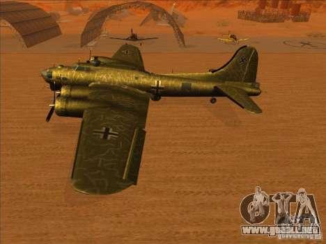 G B-17 Flying Fortress (Nightfighter versión) para la visión correcta GTA San Andreas