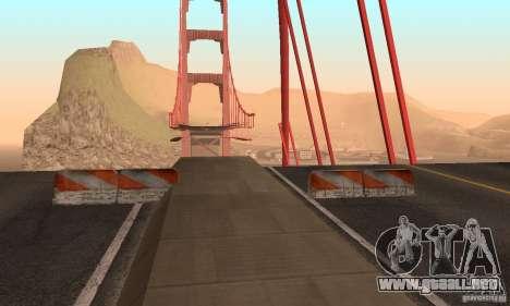 Puente destruido en San Fierro para GTA San Andreas