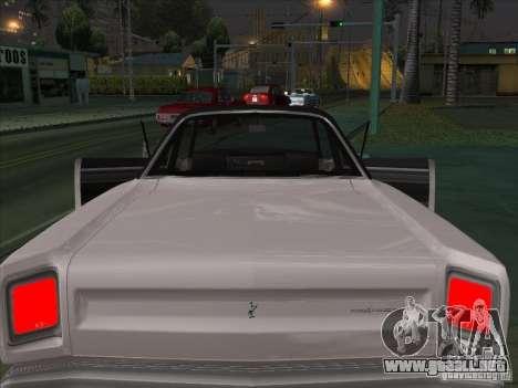 Plymouth Roadrunner 440 para vista lateral GTA San Andreas