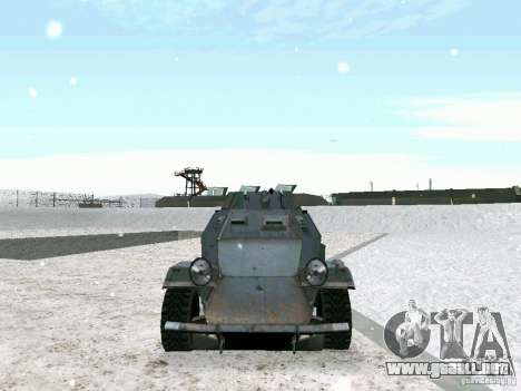 Vehículo blindado de juego tras las líneas enemi para visión interna GTA San Andreas