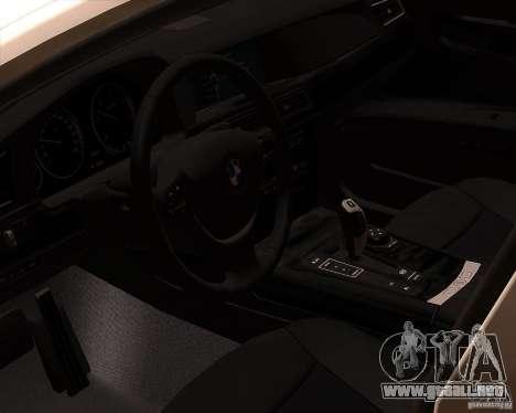 BMW 750Li 2010 para vista lateral GTA San Andreas