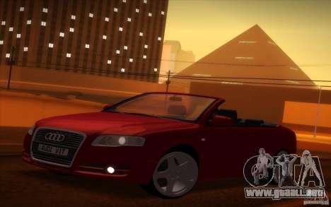Audi A4 Cabrio para GTA San Andreas vista hacia atrás
